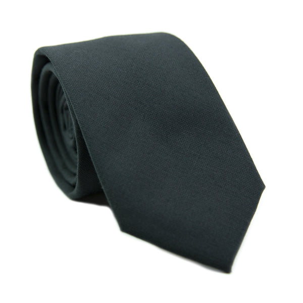 Shadow Skinny Tie. Solid black fabric.