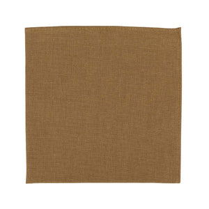Timber Pocket Square. Solid brown/orange textured fabric.
