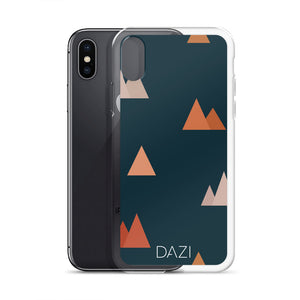 DAZI Utah Phone Case Clear Edges With Triangle Mountain Design