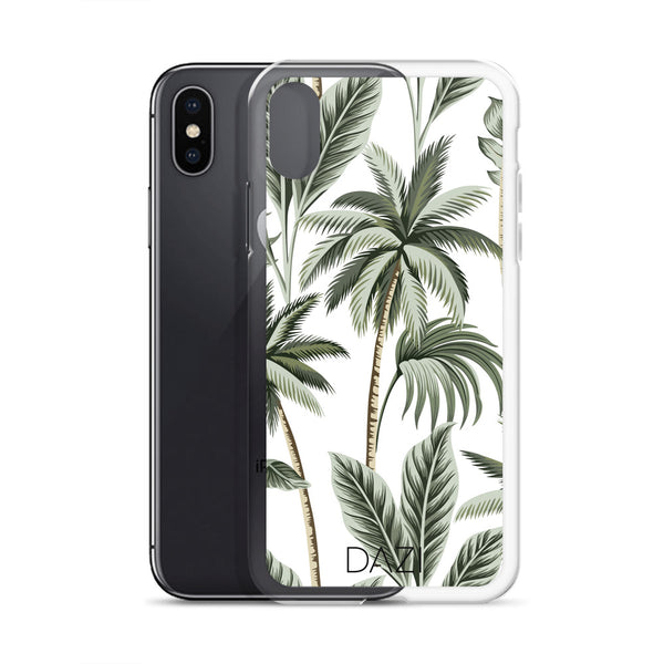 DAZI Oasis Phone Case Clear Edges With Palm Tree Design