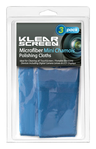 "Klear Screen Travel Size Microfiber ""Chamois"" Cloths (3 Pack)"