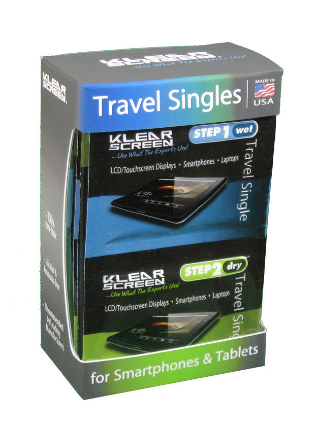 Klear Screen Travel Singles Kit (12)