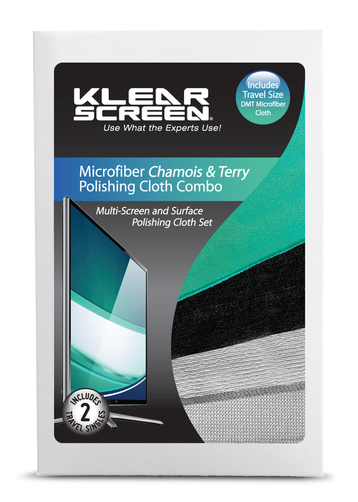 "Klear Screen Microfiber ""Chamois"" & ""Terry"" Cloth Combo"