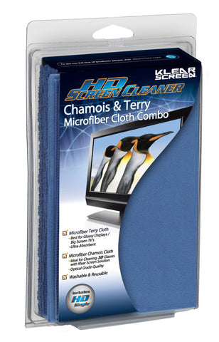 "Klear Screen HD Microfiber ""Chamois"" & ""Terry"" Cloth Combo"