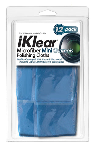 "iKlear Travel Size Microfiber ""Chamois"" Cloths (12 Pack)"