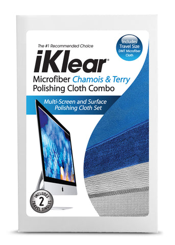 "iKlear Microfiber ""Chamois"" & ""Terry"" Cloth Combo"