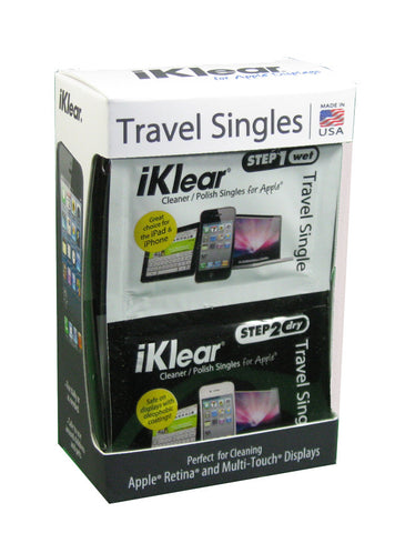 iKlear Travel Singles (Step 1 Wet/Step 2 Dry) (12 QTY)