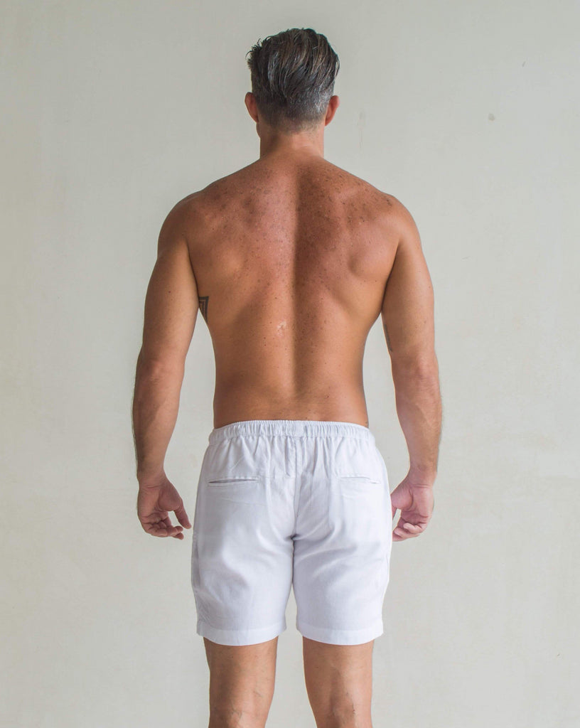 Todos Santos Shorts (White) - CRASQI