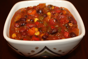 Carey's Semi-Homemade Vegetarian Chili