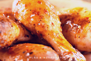 Baked Apricot Glazed Chicken Drumsticks | Easy | Nuvo Olive Oil