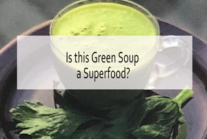 Green Soup Elixir with Raw and Slow Cooked Vegetables