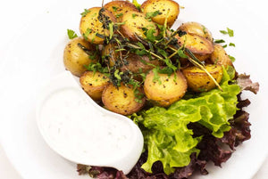Grilled Potatoes With Buffalo Dressing