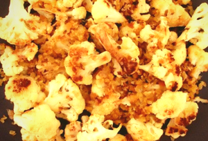 Roasted Cauliflower With Anchovy Bread Crumbs
