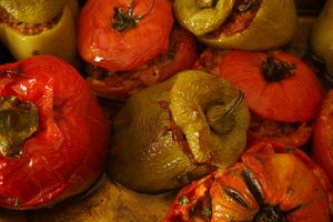 Stuffed Tomatoes & Green Peppers
