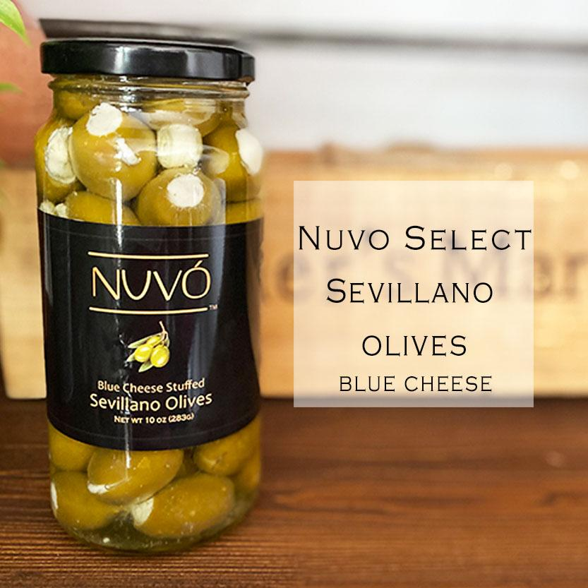 Blue Cheese Stuffed Sevillano Olives - The Martini Olive
