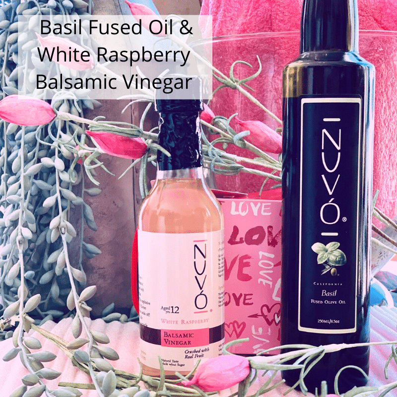 The Valentine Combo: Fused Basil Olive Oil | Raspberry White Balsamic