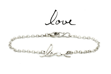 memorial handwriting bracelet in sterling silver