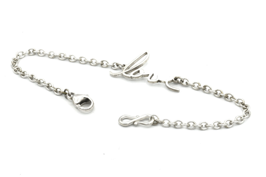 memorial handwriting bracelet in sterling silver alternate view