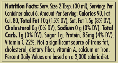 Pappardelle's Sun-Dried Tomato Dipping Oil 177ml Nutritional Statement