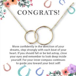 Congrats Interlocking Circles Necklace