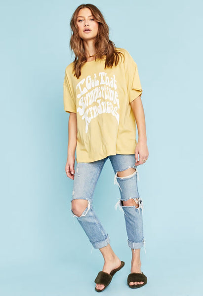 Summertime Kindness Tee Honey Comb - Project Social T