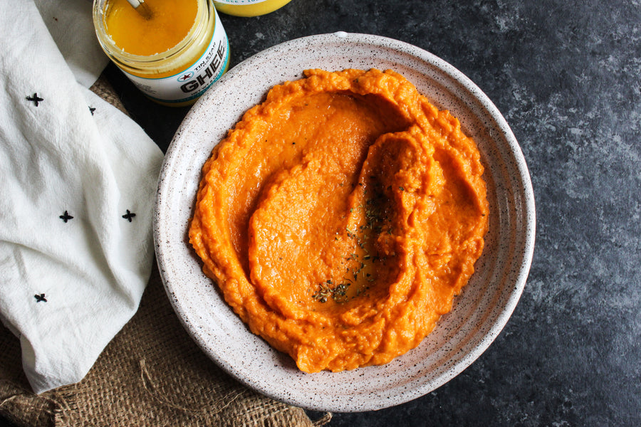 Ghee Recipe: Mashed Sweet Potatoes