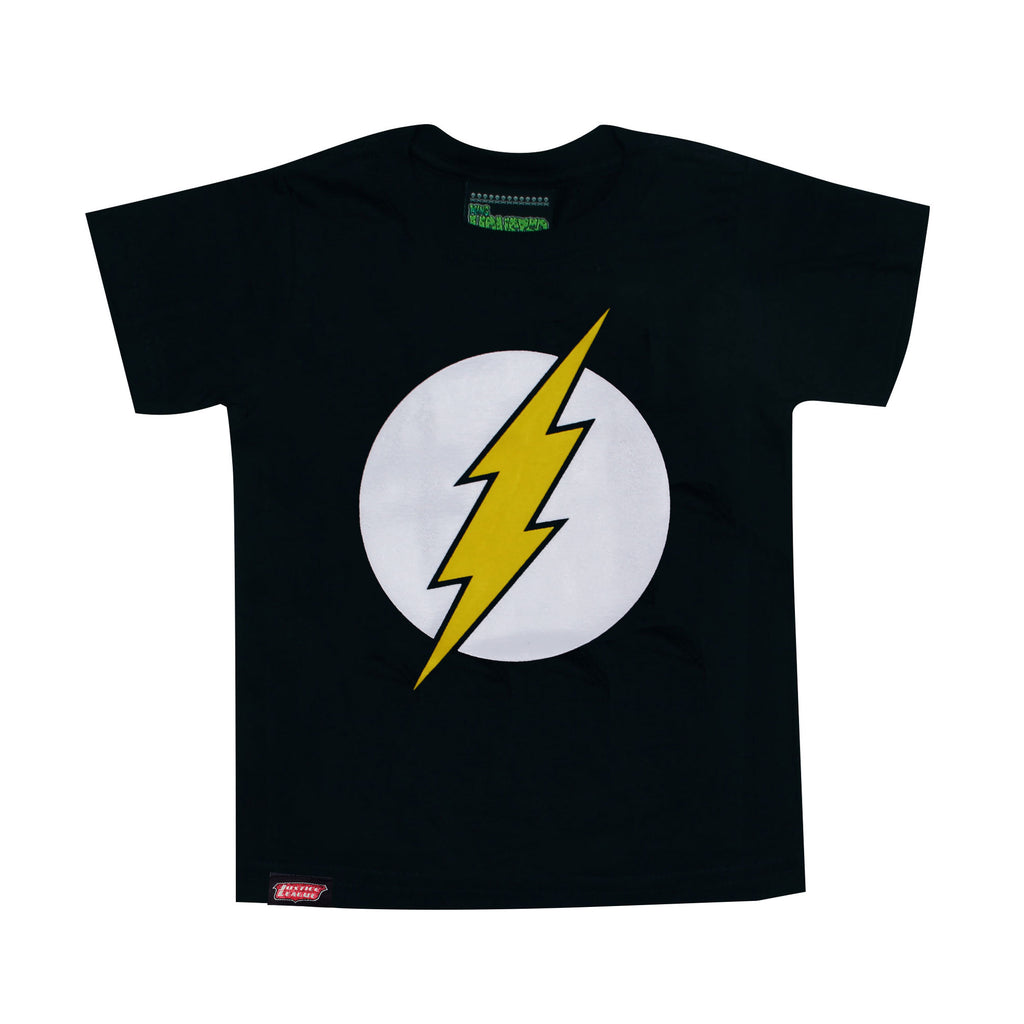 Playera Niño Logo Flash Negra