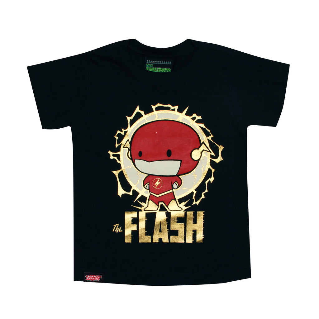 Playera Niño Flash Chibi Negra