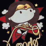 Playera Niño Wonder Woman Chibi Negra