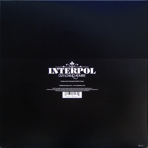 Vinyl Interpol - Our Love To Admire