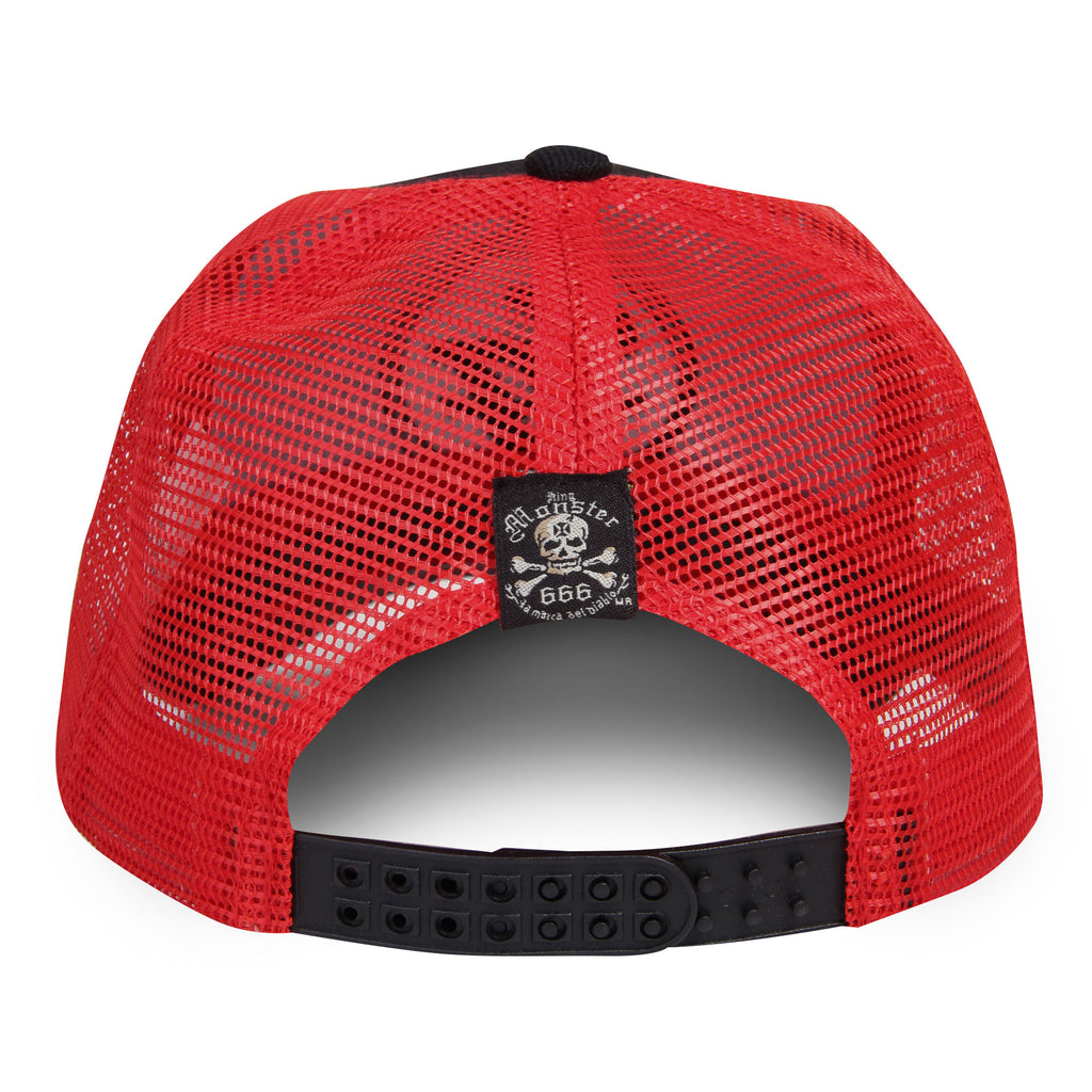 Gorra Trucker Logo Foo Fighters Negro/Rojo