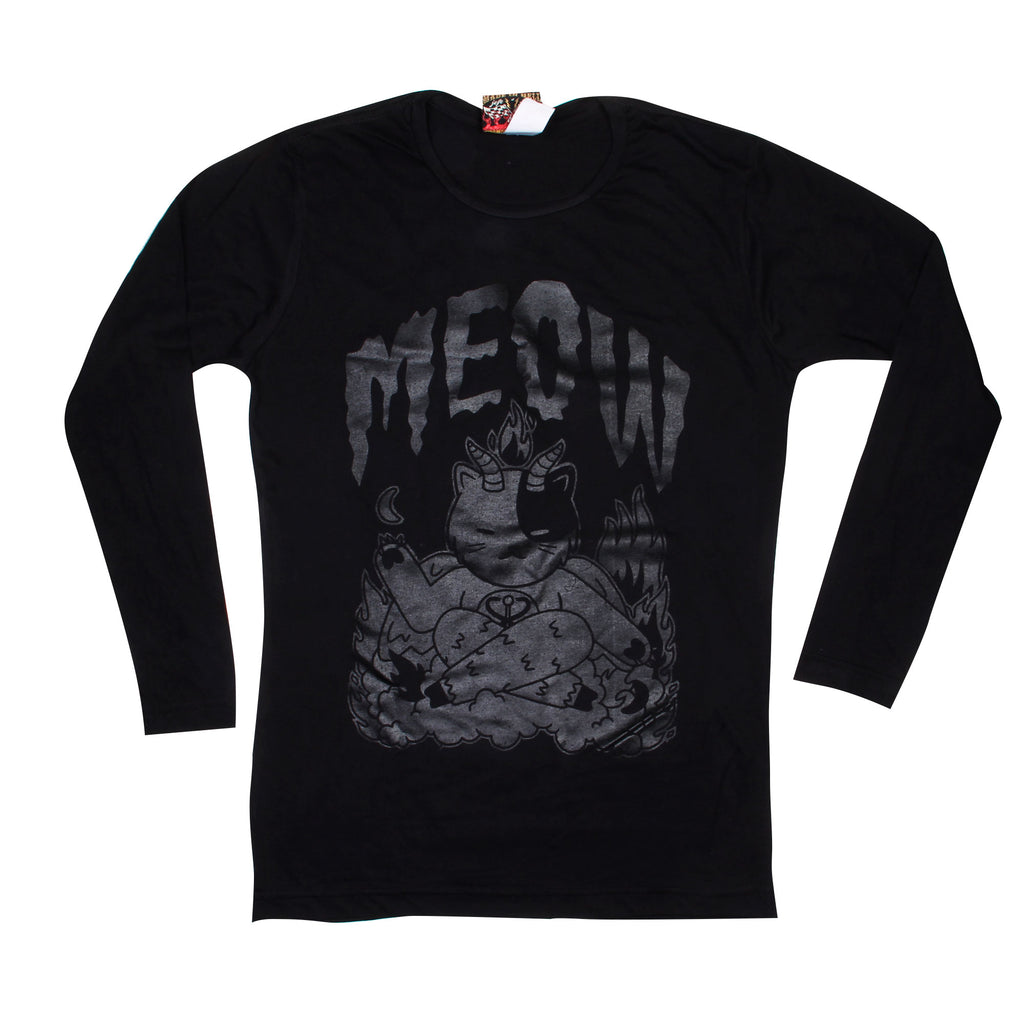 Playera Satanic Meow Black Edition