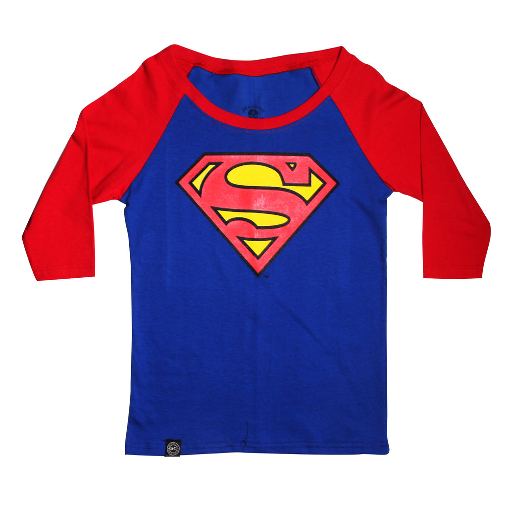 Playera Logo Superman Rey Manga 3/4