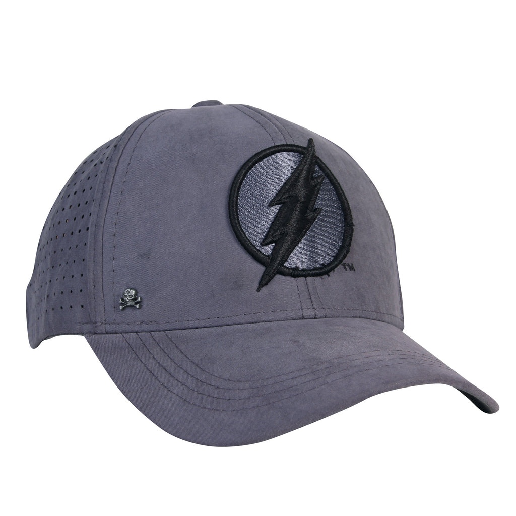Gorra Baseball Logo Flash Gris/Negro