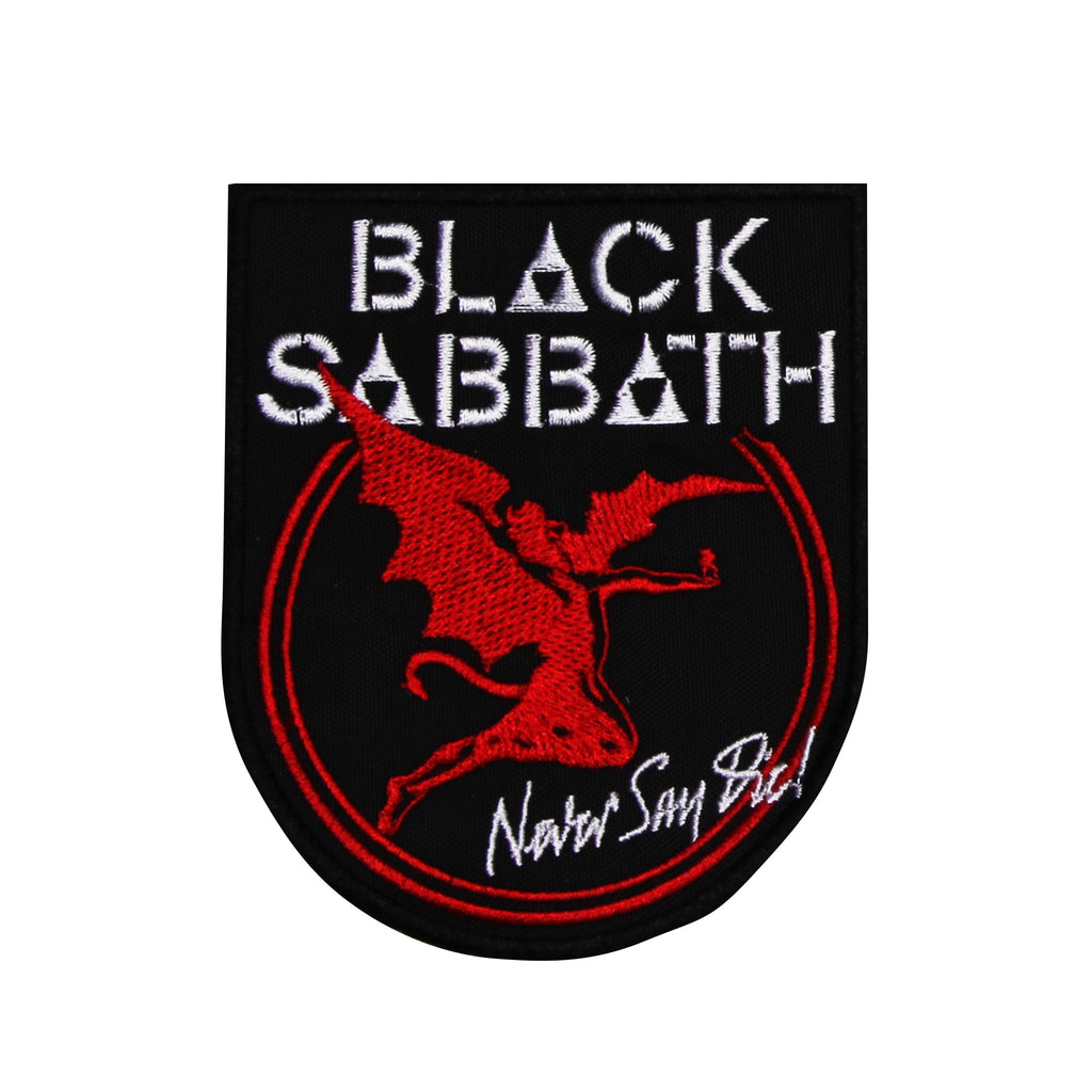 Parche #10 Black Sabbath Never (Rojo)