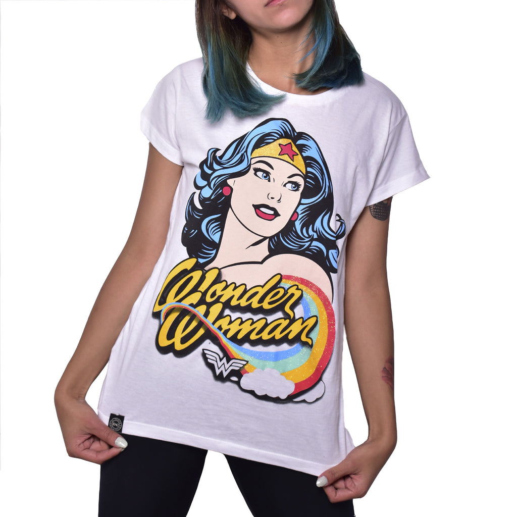 Blusa Wonder Woman Rainbow
