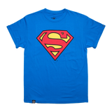 Playera Logo Superman Azul Rey