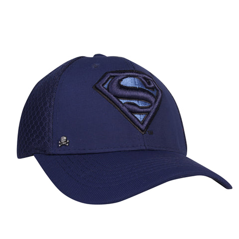 Gorra Baseball Flex Logo Superman Blue Fishnet