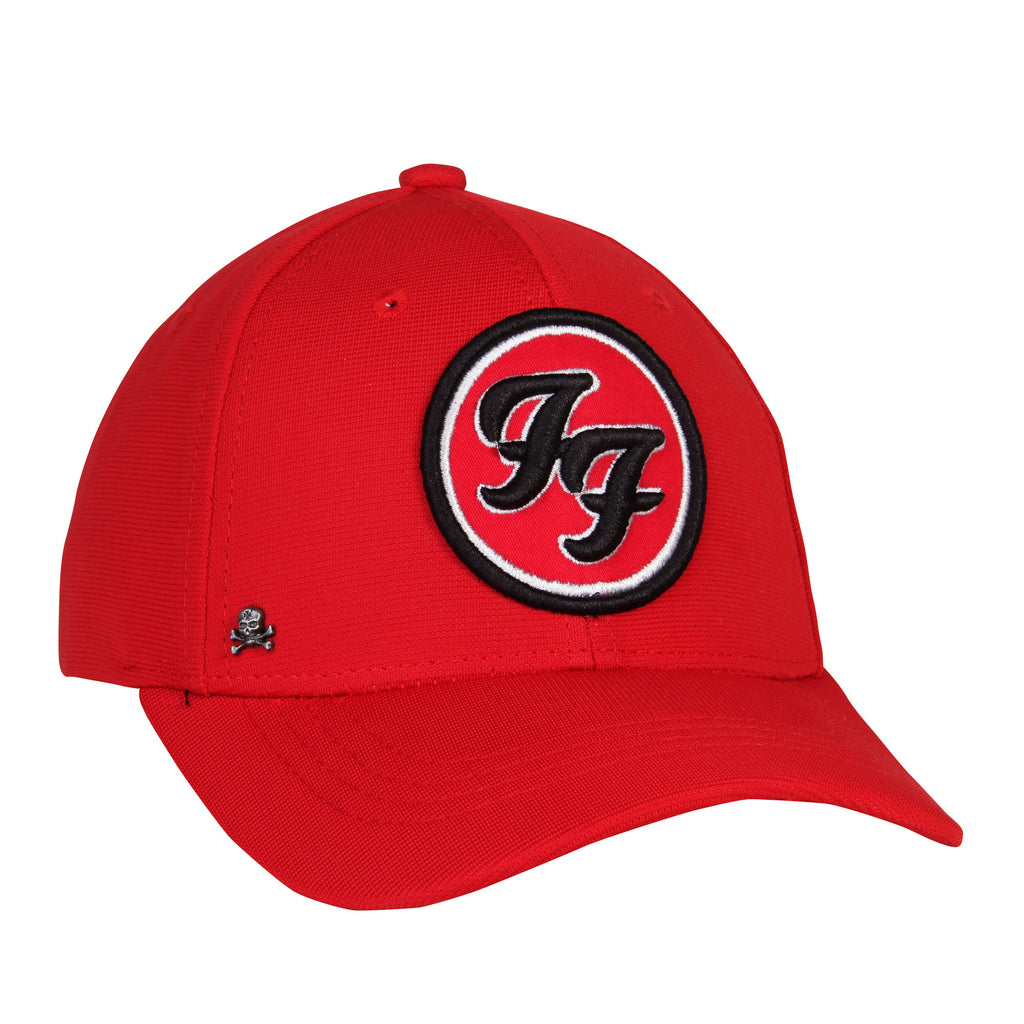 Gorra Baseball Flex Logo Foo Fighters Roja