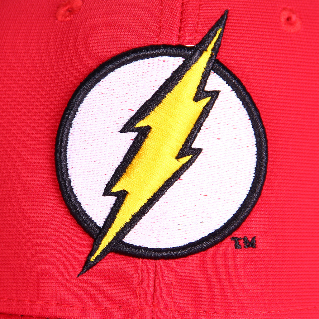 Gorra Baseball Logo Flash Rojo Cerrada - Flex