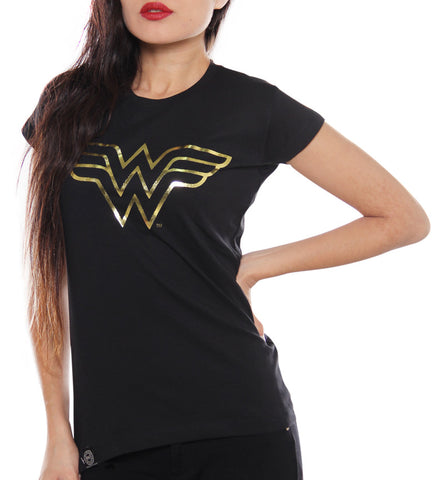 Blusa Logo Wonder Woman Foil