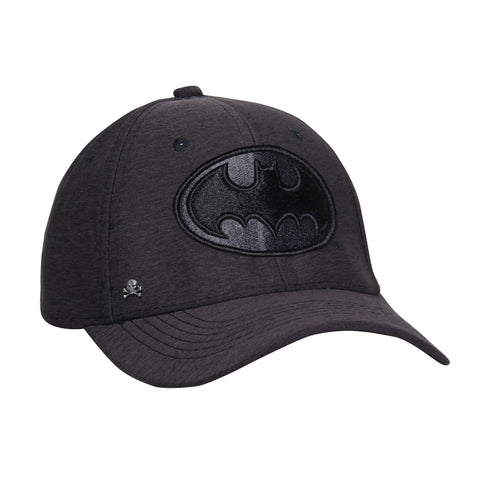Gorra Baseball Gris Flex Logo Batman Black Edition