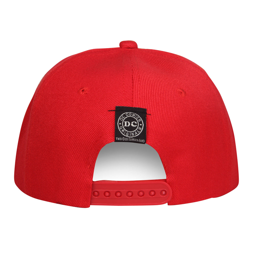 Gorra Roja Logo Flash Negro