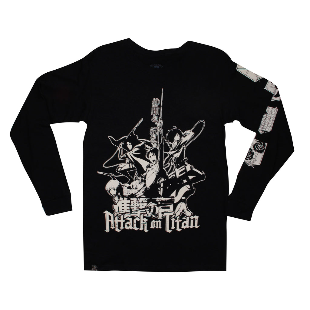 Playera Attack On Titan Manga Larga