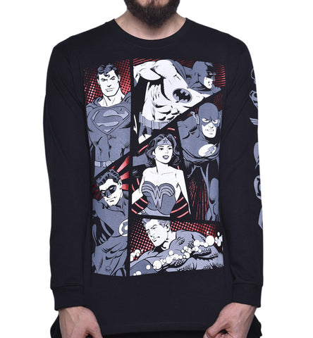Playera Justice League Manga Larga