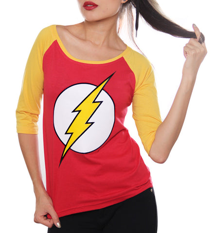 Blusa Logo Flash Manga 3/4