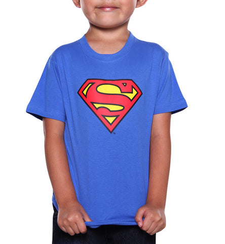 Playera Logo Superman Azul Rey Niño