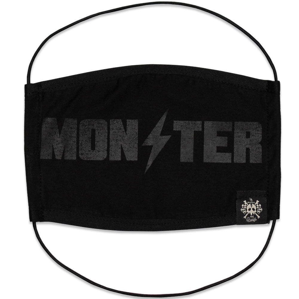 Cubrebocas Logo Monster Black