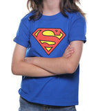 Playera Logo Superman Azul Niño