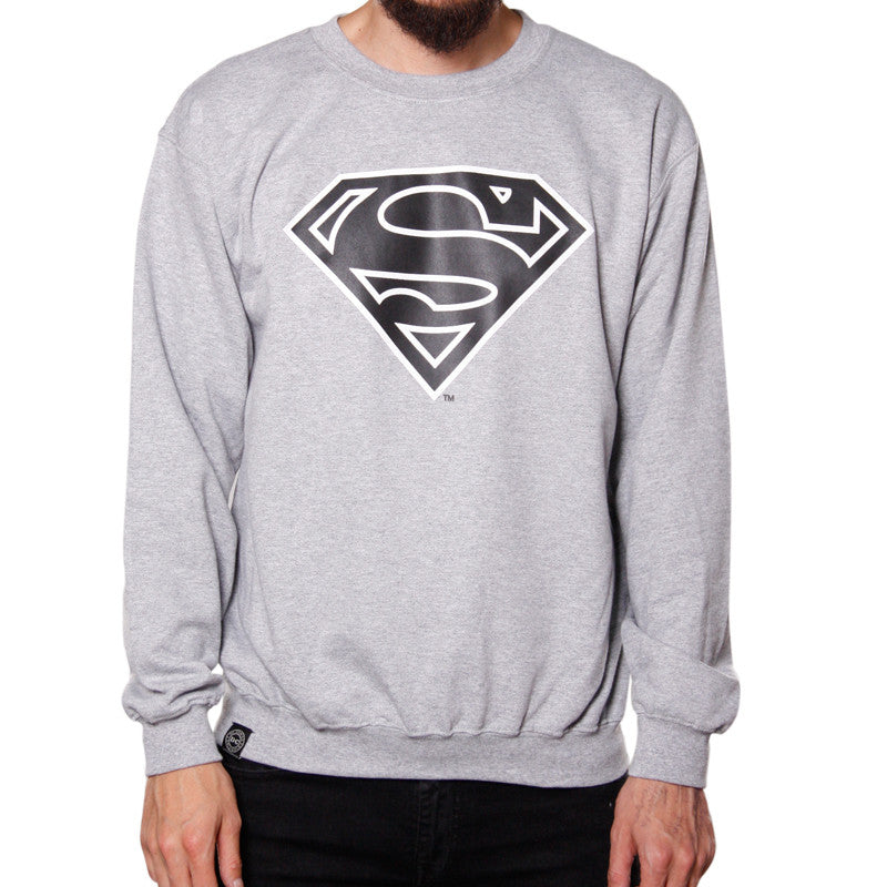 Sudadera Sin Gorro Logo Superman Grey